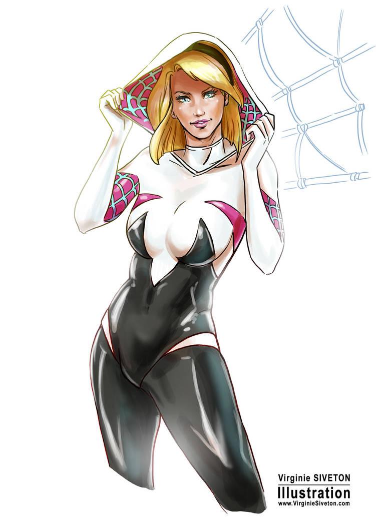 Spider Gwen by VirginieSiveton