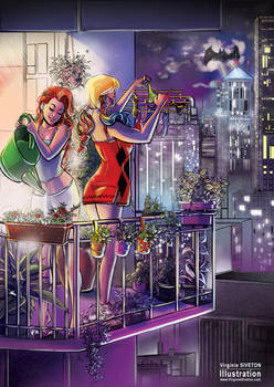 Poison ivy and Harley Quinn as roomates