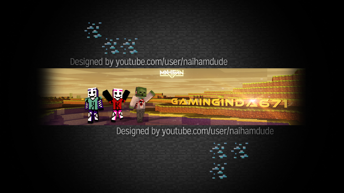 Planet Minecraft • View topic - Custom Youtube Channel Art