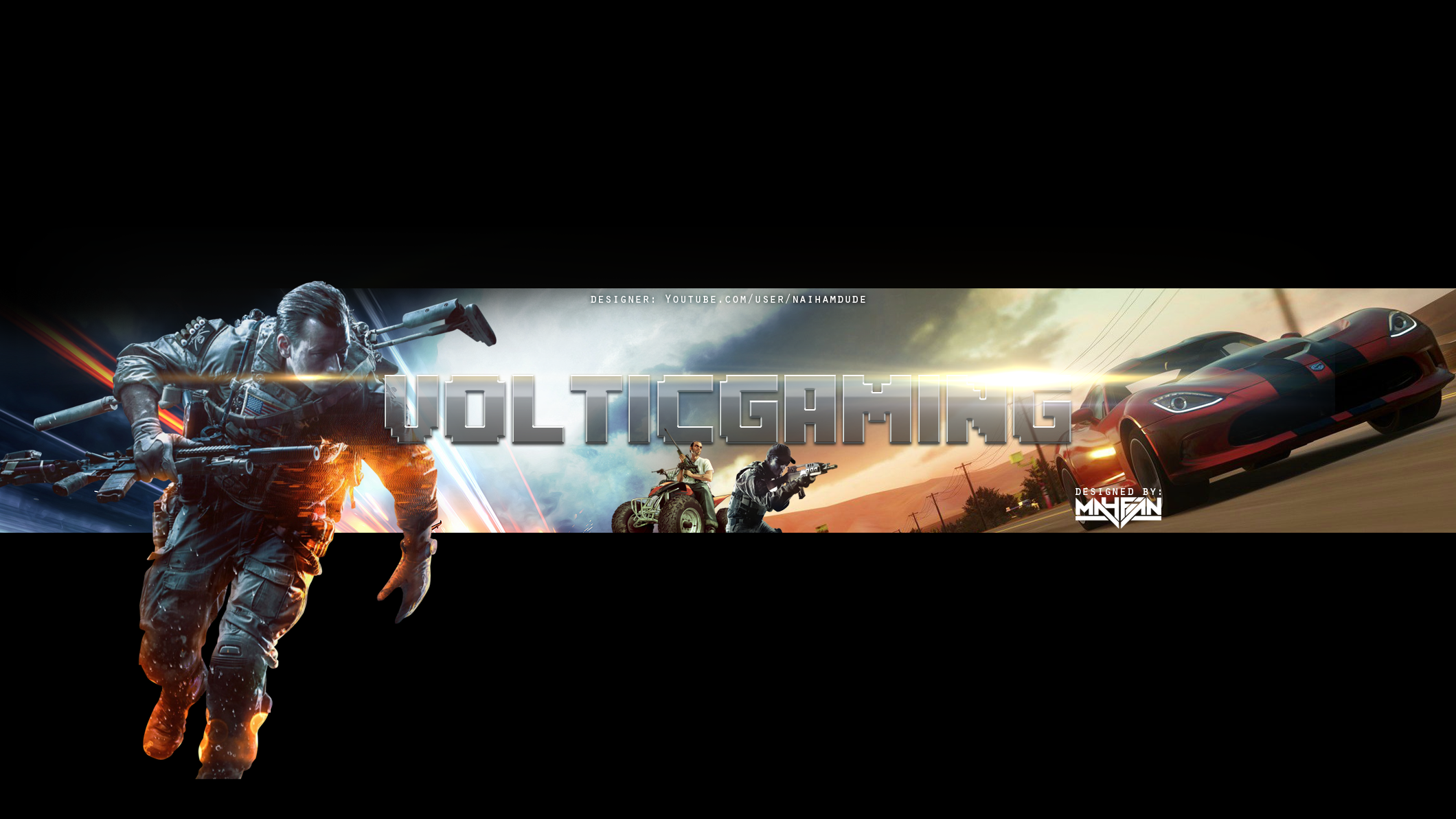 VolticGaming Youtube Channel Art by VintagePeon on DeviantArt