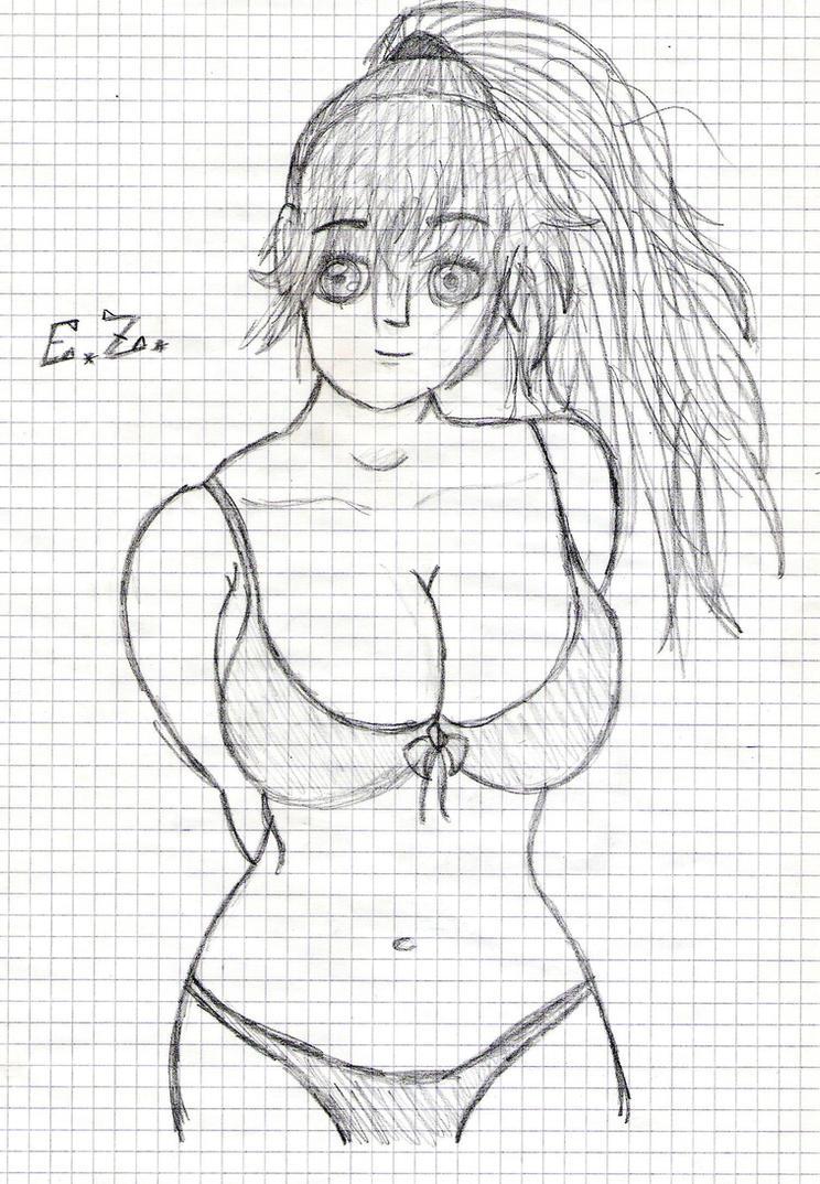 Hentai bikini girl by zac8 9 men with big dicks. 9 men with big dicks