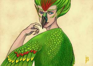 August 2016 Post Card: Bird Girl
