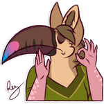 When the sticker looks just right~