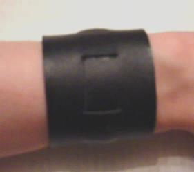 Simple Movie Lara Croft wrist band commission top! by pbbunnybear