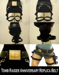 Tomb Raider Anniversary Gun Belt Replica by pbbunnybear