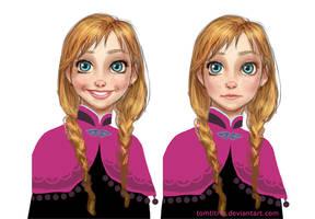 Frozen Anna by tomtitRin