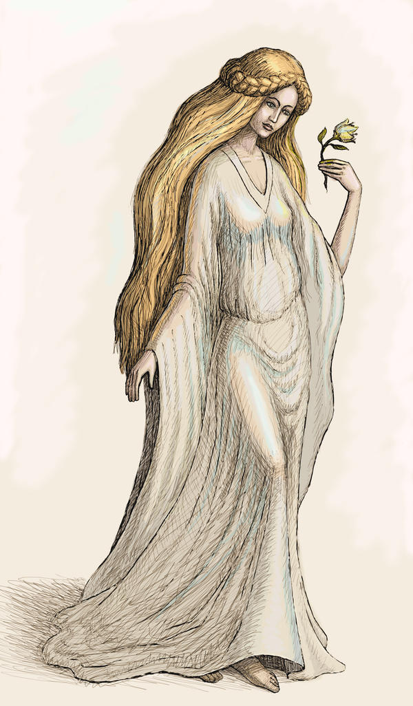 Galadriel colored by zdrava