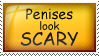 Penises look scary stamp by cumeoart