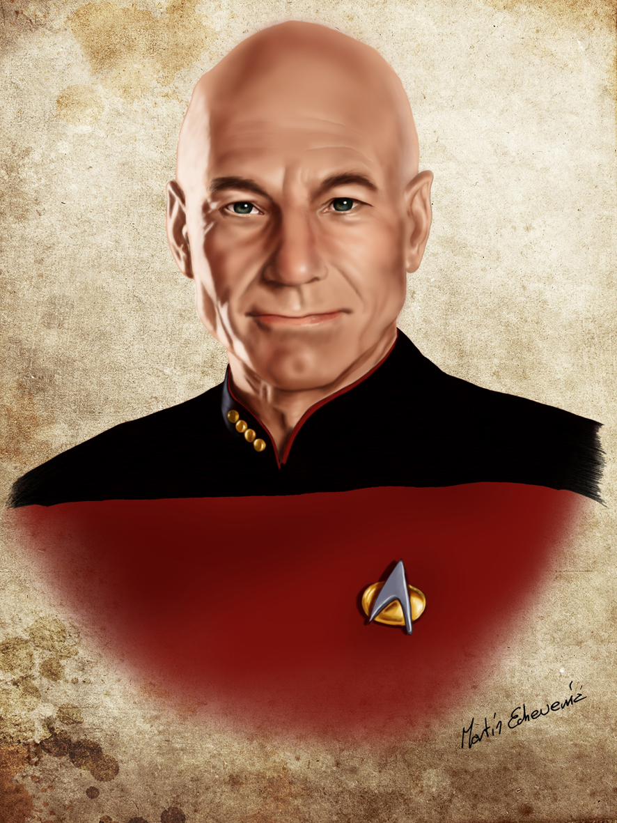 Star Trek. Captain Jean-Luc Picard. by webmartin99
