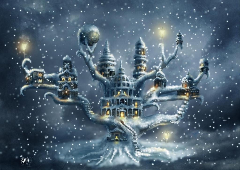 Winter town by Avi-li