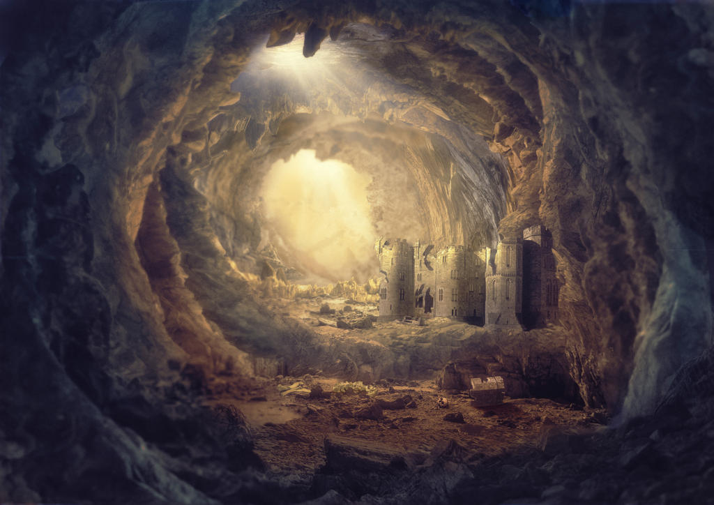 The worlds of A. Pehov . Cave fortress by Avi-li