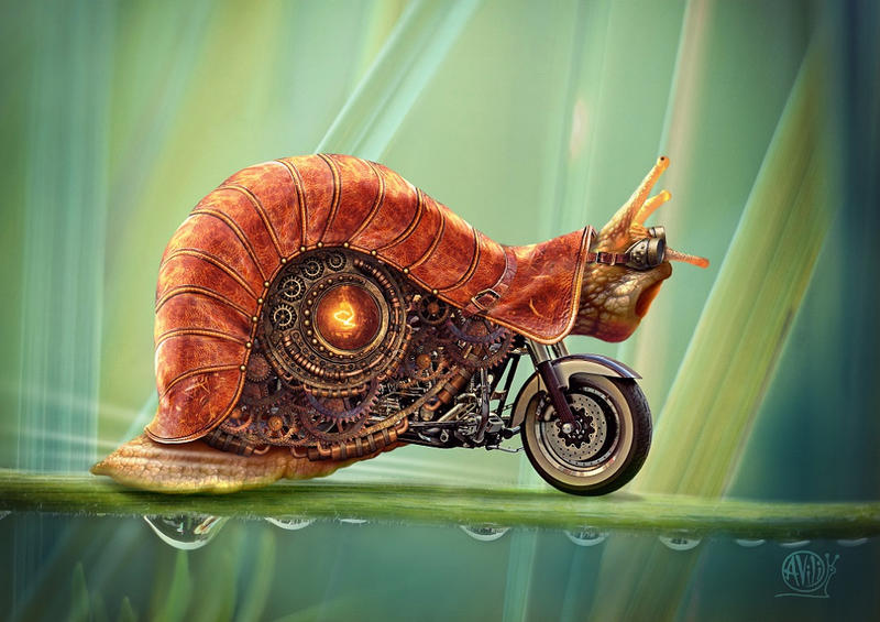 Snail steampunk by Avi-li