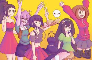 Boku no Hero Academia: Best Girls (Print) by reincarnationz