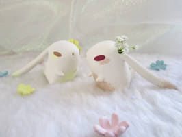 Mini Bunny Vase by wolvesrevolution