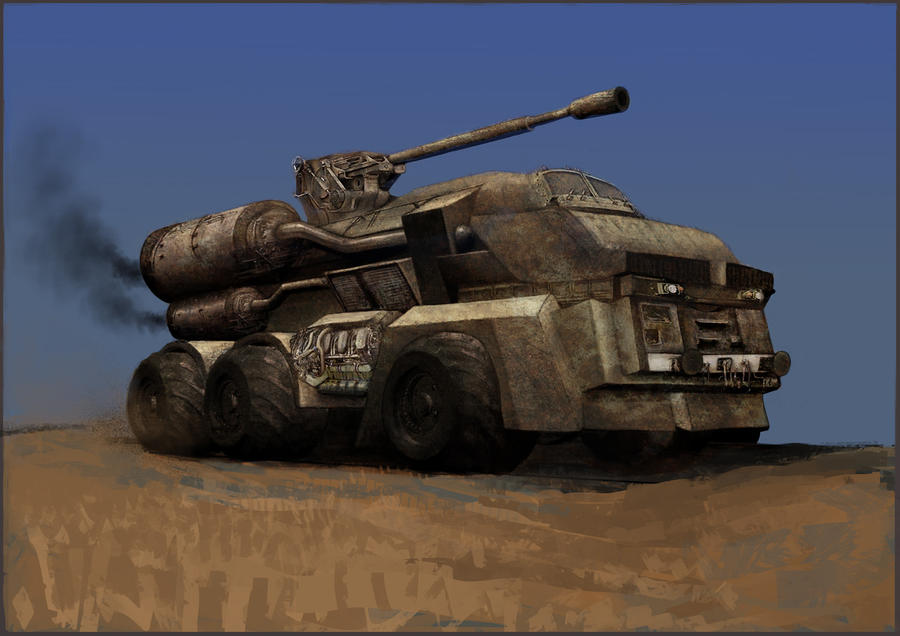 post apocalyptic war vehicle by WillWarburton