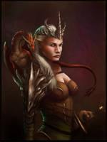 Dragon Queen by WillWarburton