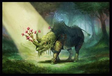 Elemental Rhino by WillWarburton