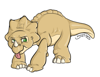 Land Before Time Cera by ChaosKirin on DeviantArt