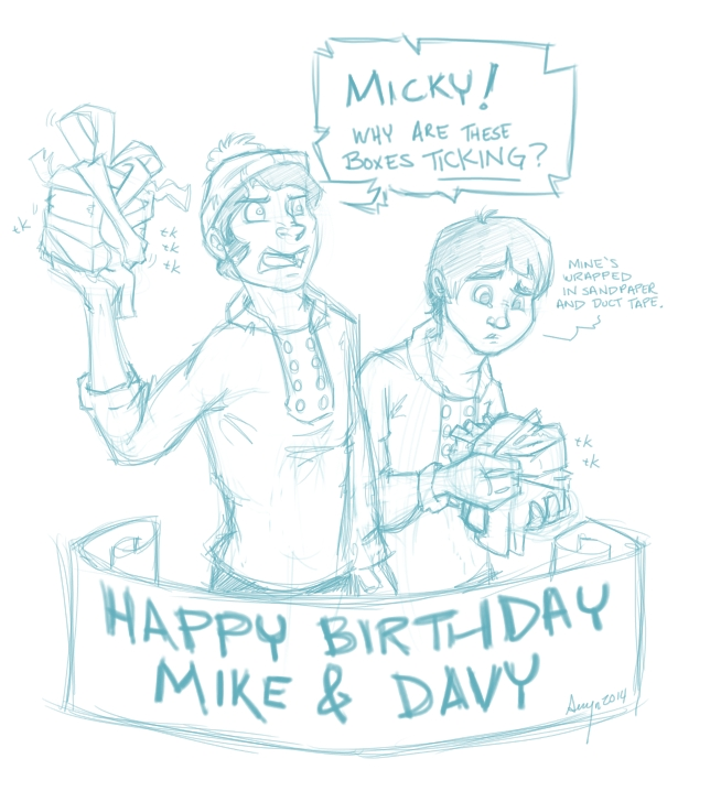 Happy Birthday Mike and Davy 2014 by ChaosKirin