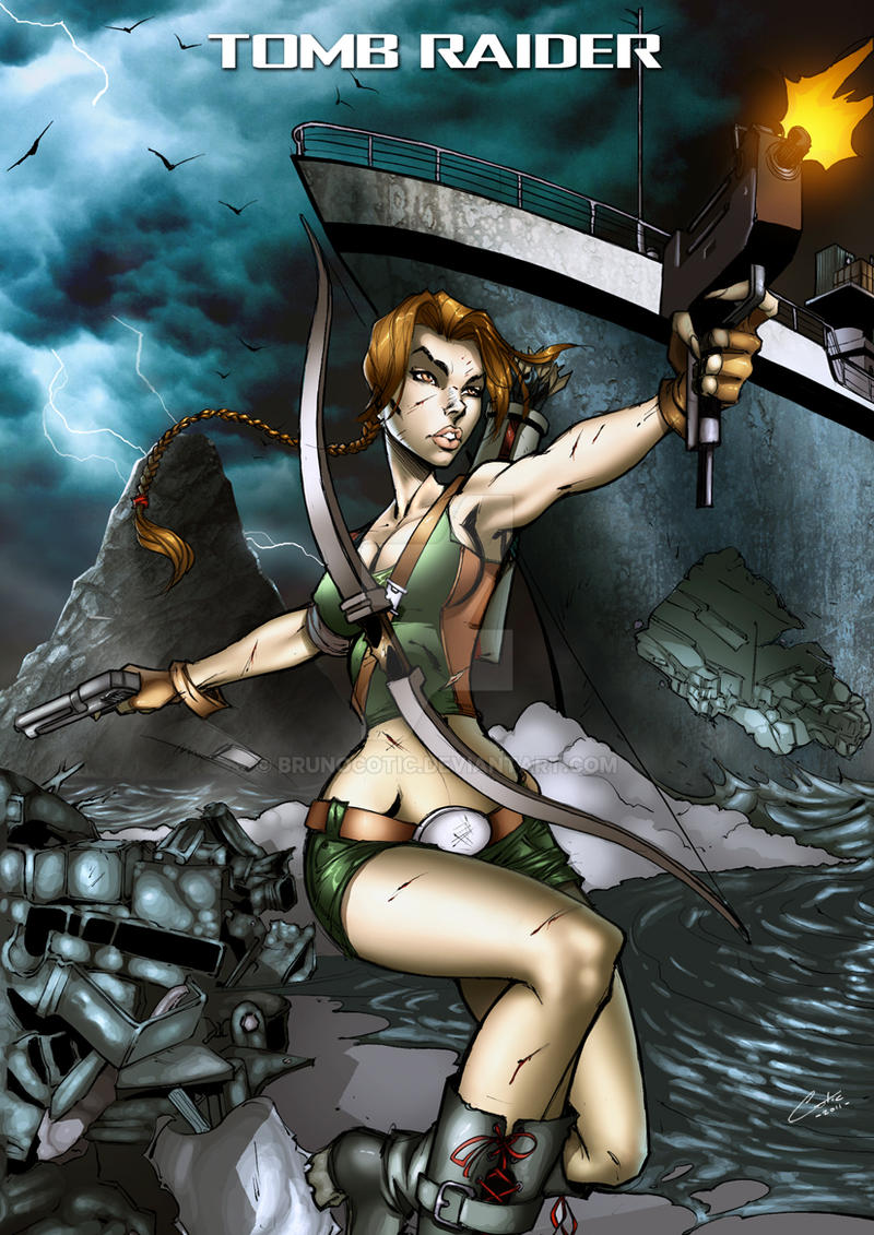 Tomb Raider splashpage color by BrunoCotic
