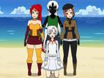 Weiss, Pyrrha, and Coco Meet Cursed Shadow
