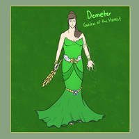 SMITE - Demeter, Goddess of the Harvest by Kaiology