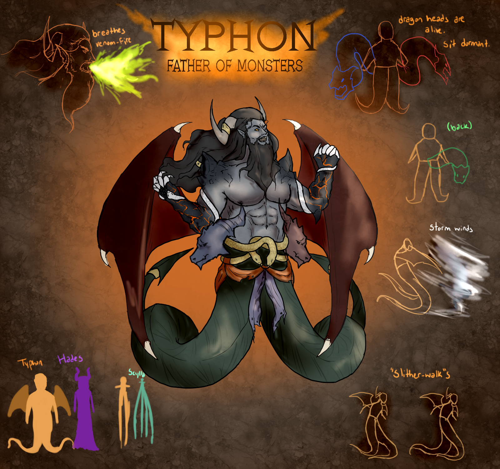 [GOD CONCEPT UPDATE] Typhon, Father Of Monsters : Smite