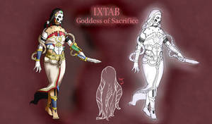 Smite Concept - Ixtab, Goddess of Sacrifice by Kaiology