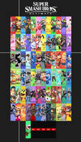 Super Smash Bros. Ultimate - Roster by Kaiology