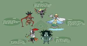 Smite Pantheon Doodles - Native American