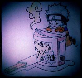 Chibi Naruto With Ramen by KuroichiYamasaki