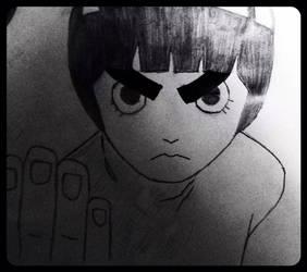 Rock Lee Drawing by KuroichiYamasaki