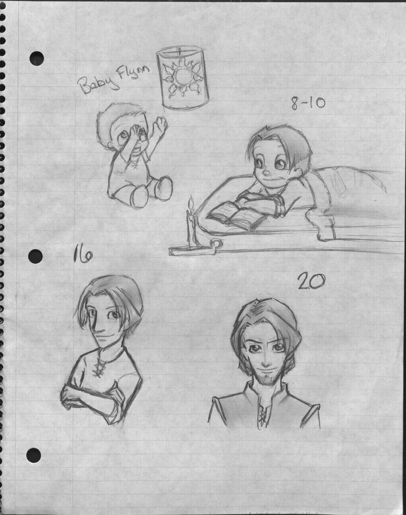 Flynn-Eugene Sketch Dump by shiichanchick