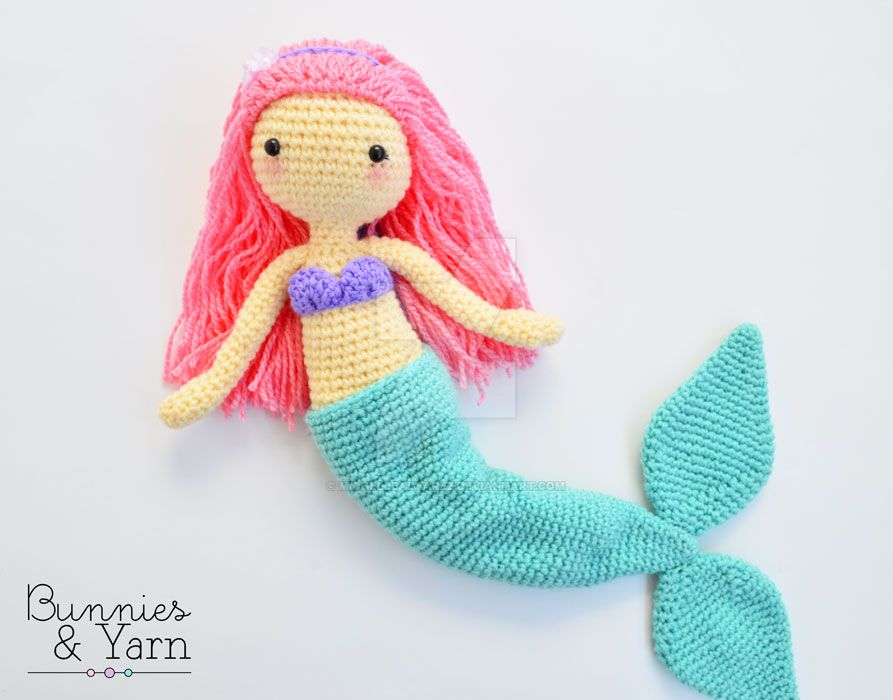 Mindy The Mermaid Doll Crochet Pattern Amigurumi By