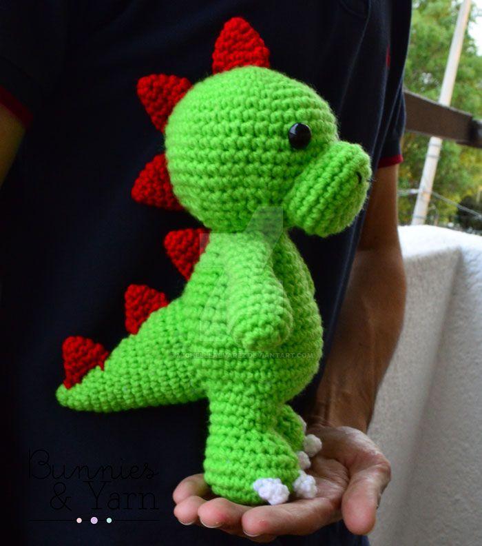 Tim The Friendly Dinosaur Crochet Pattern By Michellealvarez On
