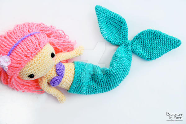 Crochet Pattern Mindy The Mermaid Doll By Michellealvarez On