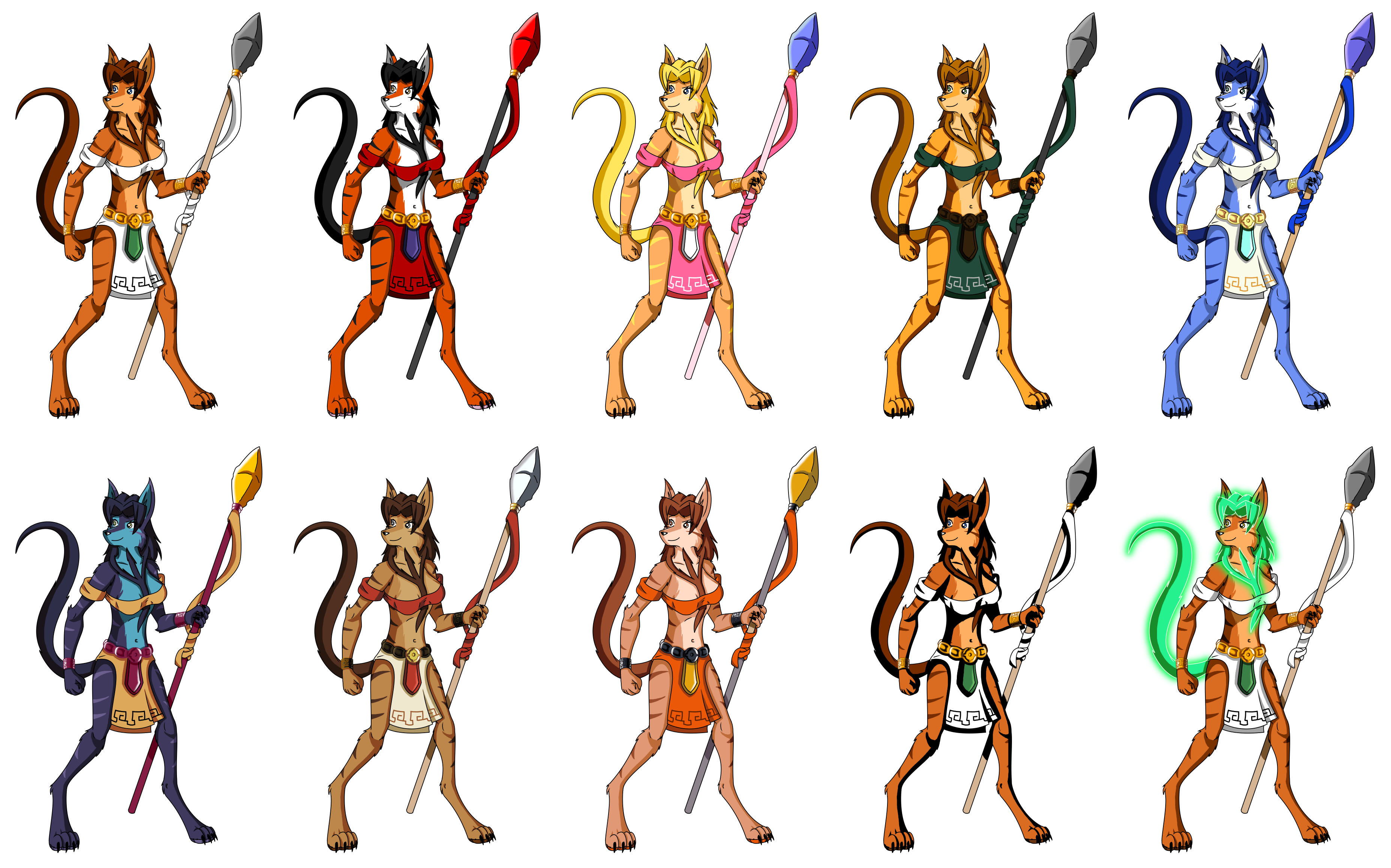 Lok Fighting Game Kelly Sprite And Palettes By Noelthechristmascat On Deviantart