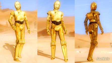 C3PO in DOA5LR (WIP) by SaafRats