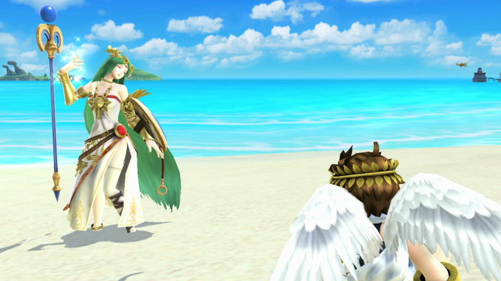 Pit X Palutena Beauty On The Beach By AdmiralPit On