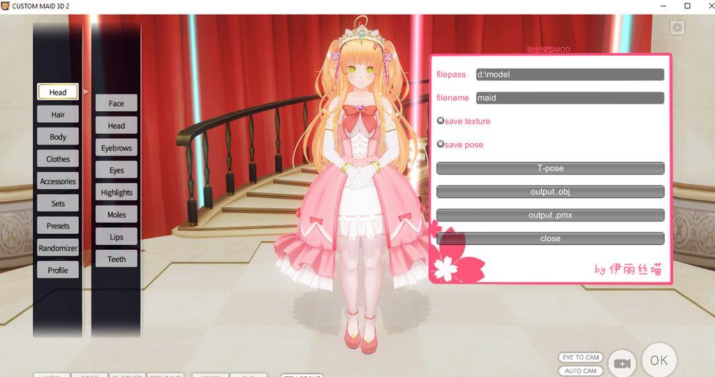 Custom Maid 3D 2 to MMD Tutorial by YelenBrownRaccoon on