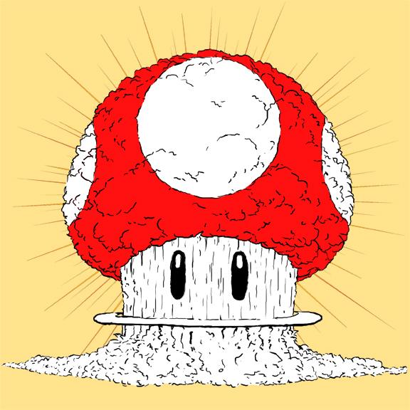 Mario Mushroom Cloud by KirbywithaMasamune