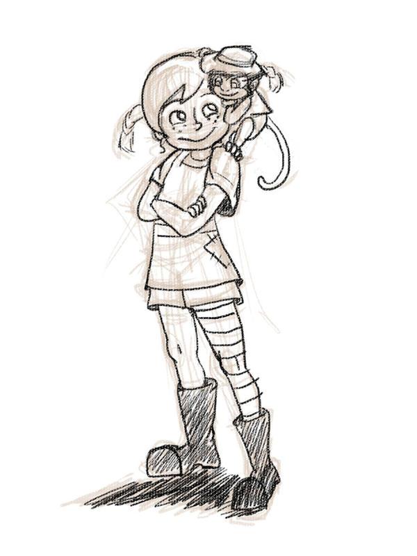 Image result for pippi longstocking sketch