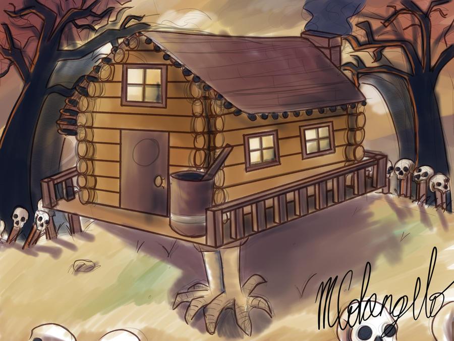 Baba Yaga's hut by SpaceCaseMeg