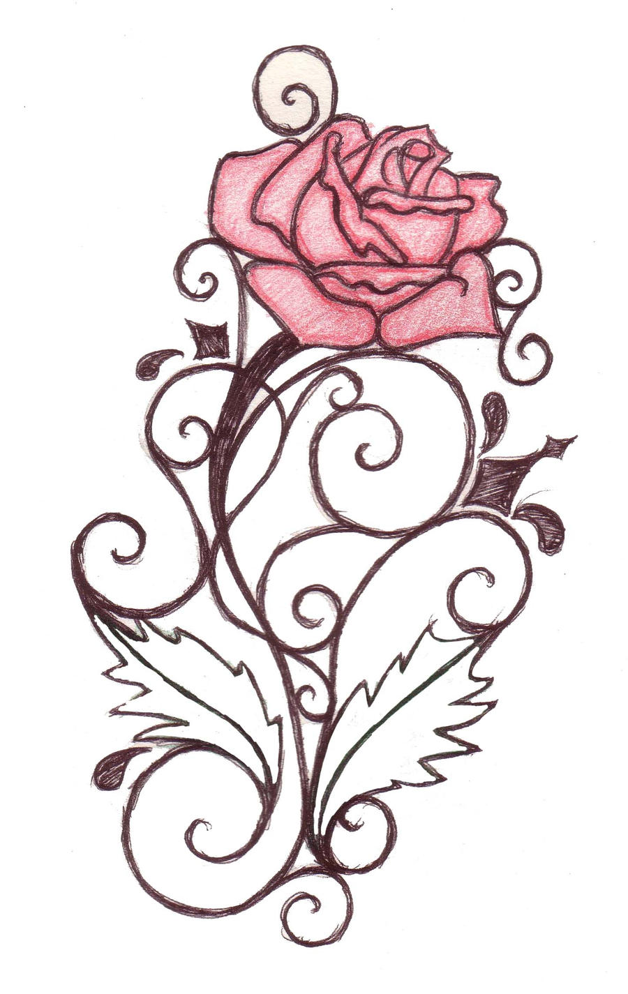 Rose Swirl Tattoo Design By Natzs101 Watch Designs Interfaces