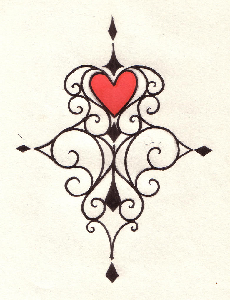 Heart swirl tattoo design by natzs101 on deviantart for Swirl tattoo designs
