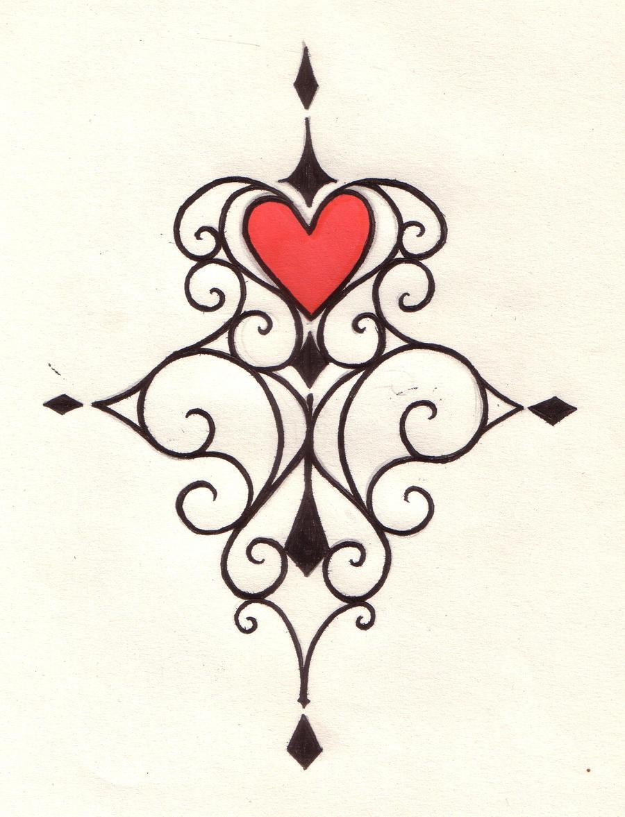 Heart swirl tattoo design by natzs101 on deviantart for Heart design tattoos