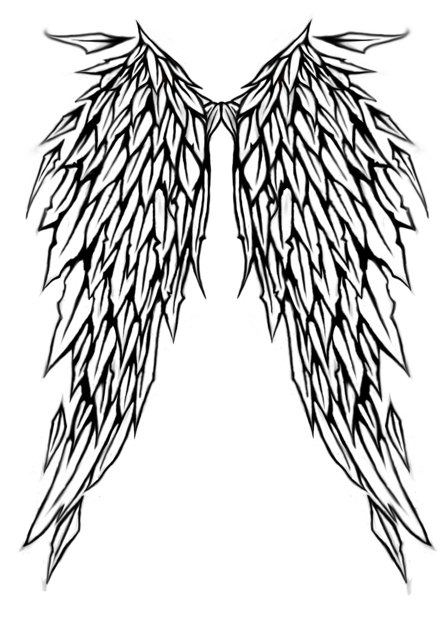 Simple Angel Wing Tattoos Design Angel Wings Tattoo Design by