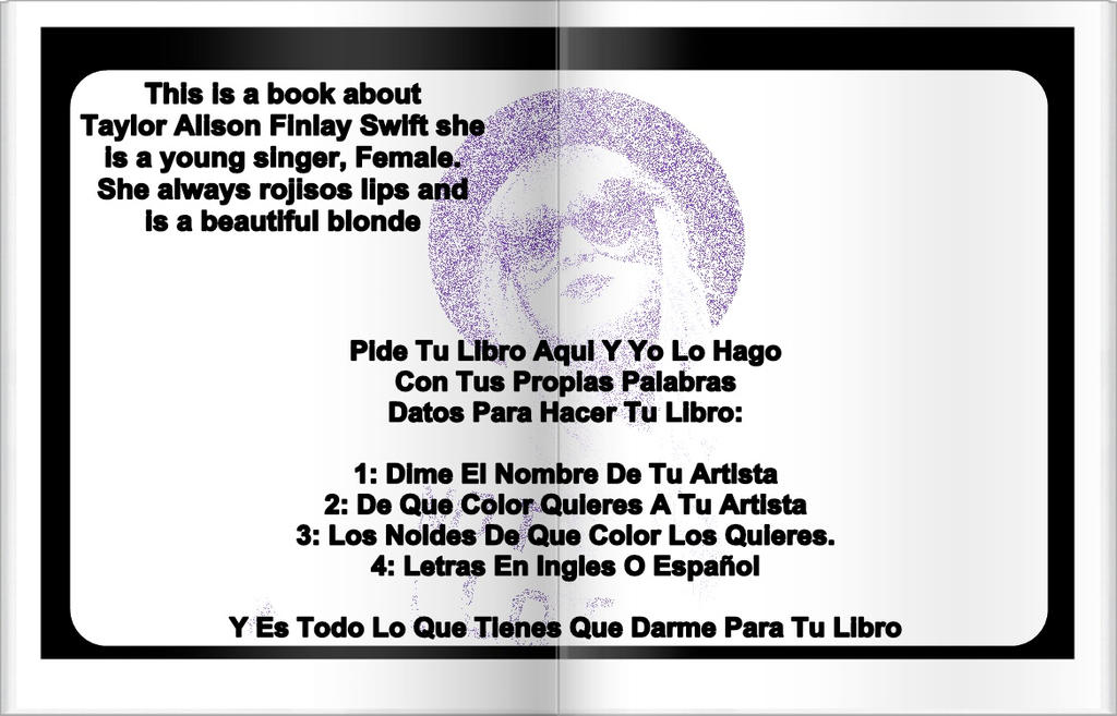 Libro De Taylor Swift by CosasLindas