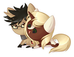 Serene and Sweetheart Chibi Commission