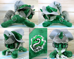 Slytherin Pony Plushie Commission by Featherpaw14